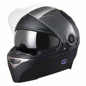 AHR DOT Motorcycle Full Face Helmet Dual Visors Lightweight ABS Air Vent Motorbike Touring Sports
