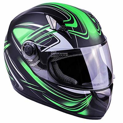 Typhoon K77 Full Face Motorcycle Helmet DOT – SAME DAY SHIPPING (Matte Green, Adult XXL)
