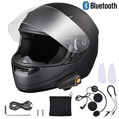 AHR Run-B Bluetooth Motorbike Full Face Helmet Wireless Headset Helmet with Wireless Headset Intercom MP3 FM DOT