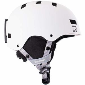 Retrospec Traverse H1 Ski & Snowboard Helmet, Convertible to Bike/Skate, Matte White, Large (59-63cm)