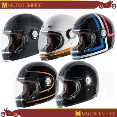 TORC T1 Full Face Fiberglass Retro Style Motorcycle Scooter Helmet DOT XS – 2XL