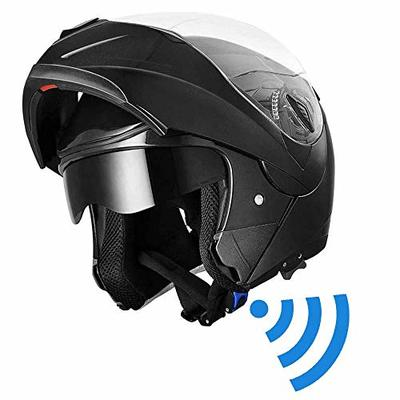 Westt Torque Motorcycle Helmet – Modular Helmet Street Legal Motorcycle DOT Certified for Scooter Moped Motor Bike Helmet (Matte Black)
