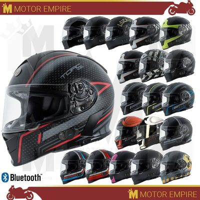 TORC T14 T-14B Mako Full Face Motorcycle Helmet DOT Standard or Bluetooth XS-2XL
